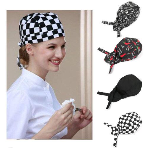 Neu Kochbekleidung Kopfbedeckung Kochmütze Kochhut Einstellbar in Vielen Farben