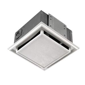 NEW Broan 682 Duct-Free Ventilation Fan with Charcoal Filter, White Plastic-Grille
