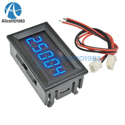 Blue Led 5 Digit Dc 0-4.3000-33.000v Digital Voltmeter Voltage Meter Car Panel