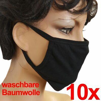 Maske Mundschutz Baumwollmaske Gesichtsmaske 10 Stück Stoffmaske Waschbar Schwa