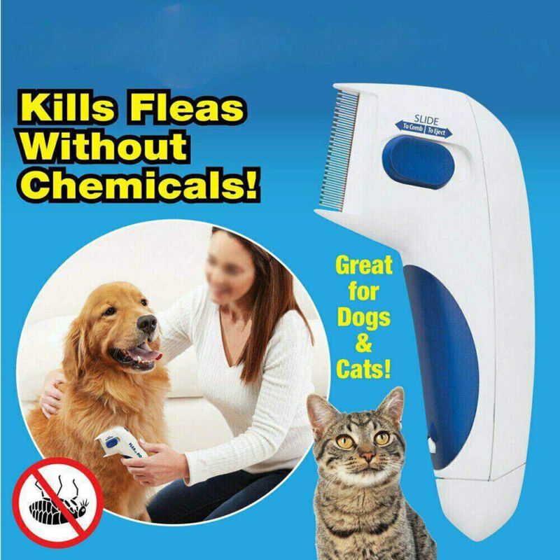 Flea Remover Comb Electric Dog Anti Flea Comb Head Lice Pets Cat Flea Control US