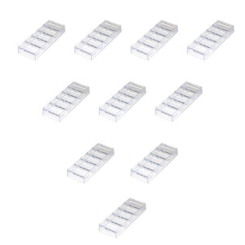 100pcs Casino Clear Acrylic Chip Trays   Poker Chip Racks (10-Pack)