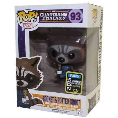 Funko POP! Marvel: Guardianes de la Galaxia: Groot con Rocket Exclusivo