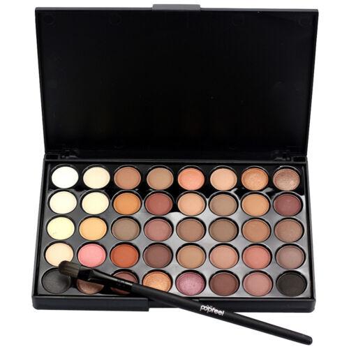 40 COLORI DA DONNA SCINTILLANTE OPACO palette ombretto Set cosmetici makeup