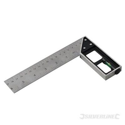 150mm Silverline Tri & Mitre Square With Spirit Level - 282651