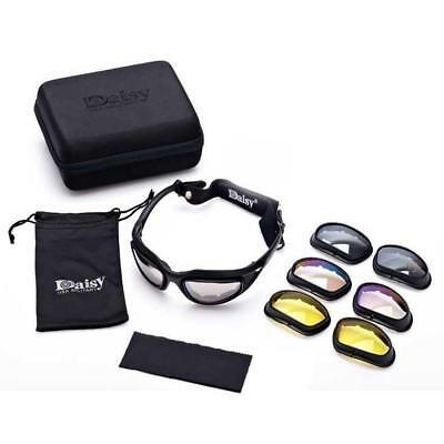 fd19e54fd2da Polarized Sunglasses Daisy C5 Military Goggles 4 Lenses Outdoor Tactical  Eyewear