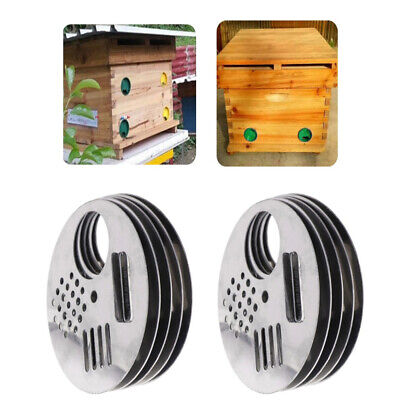 10pcs Stainless Steel Hive Entrance Nest Gate Door Beekeeping Equipment For Bee
