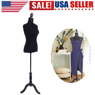 Lady Female Mannequin Form Bust Display Stand Tailor Sewing Dummy Dressmaker