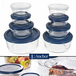 Anchor Hocking 16pc Food Storage Container Set Glass BPA FREE Microwave Safe