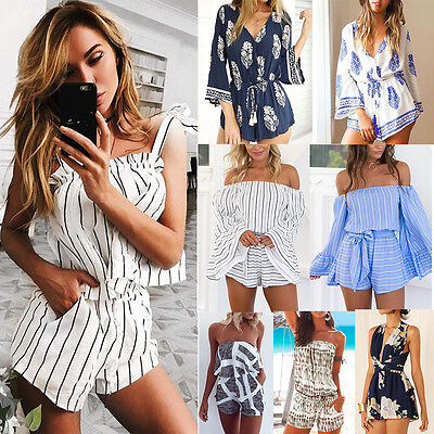Women Ladies Clubwear V Neck Playsuit Bodycon Party Jumpsuit&Romper Trousers Lot