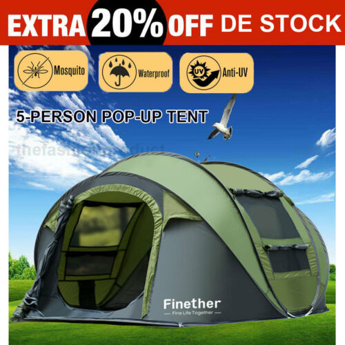 5-6 Personen Outdoor Pop Up Zelt Kuppelzelt Wurfzelt Au… |