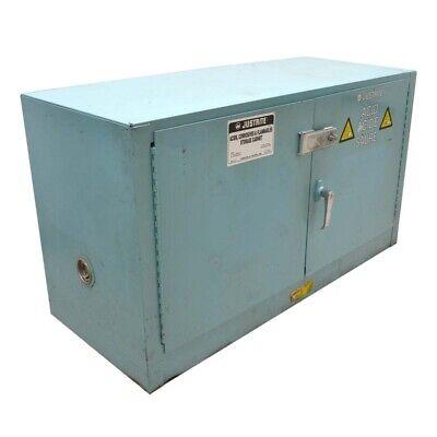 Justrite 25872 Manual 2-Door 17 Gallon Steel Piggyback Corrosive Safety Cabinet