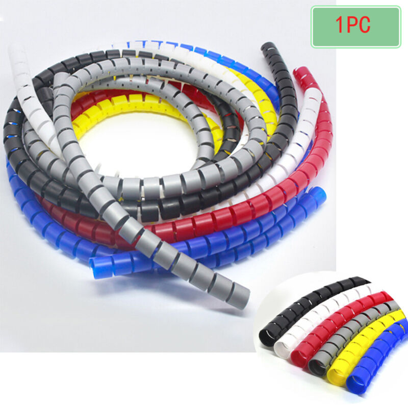 Safe Wiring Electrical Spiral Winding Pipe Management Tube Protective Case