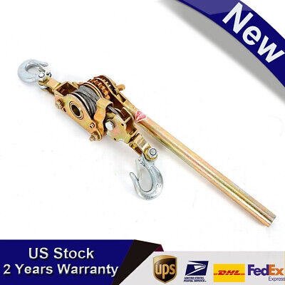 2 Ton Hand Puller Come Along Cable Strong Alloy Hoist Hooks 4400lb Durable