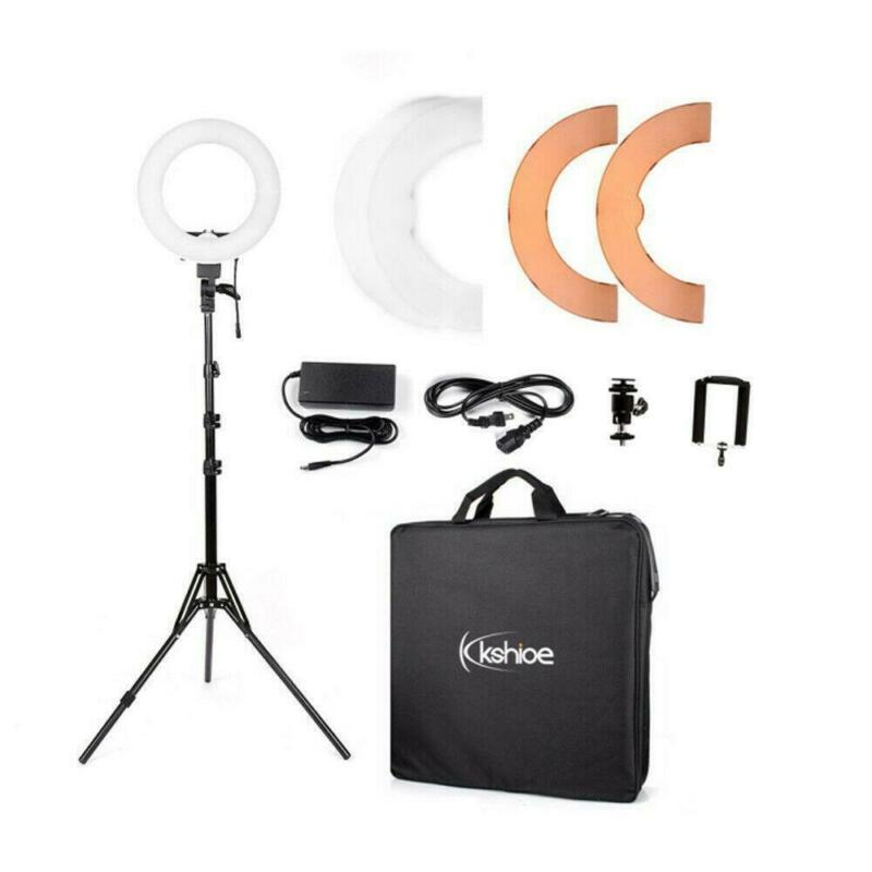 "12"" LED Ring Light Kit w/ 2m Light Stand Dimmable 5500K for photostudio Camera"