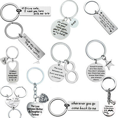 Aunt Niece,Best Friend Lover Keychain Gifts For Dad Mom Love Keyring Key