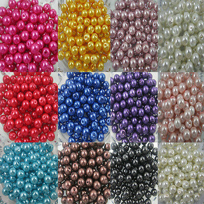 Wholesale Glass Pearl Round Spacer Loose Beads 4mm 6mm 8mm 10mm