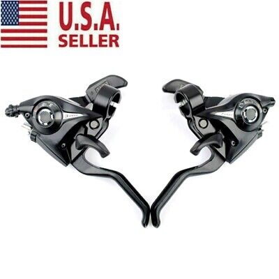 1 Pair ST-EF51 GEAR Shifter//Brake Lever 3 x 7,8,21,24 Speed Set Black Lever New