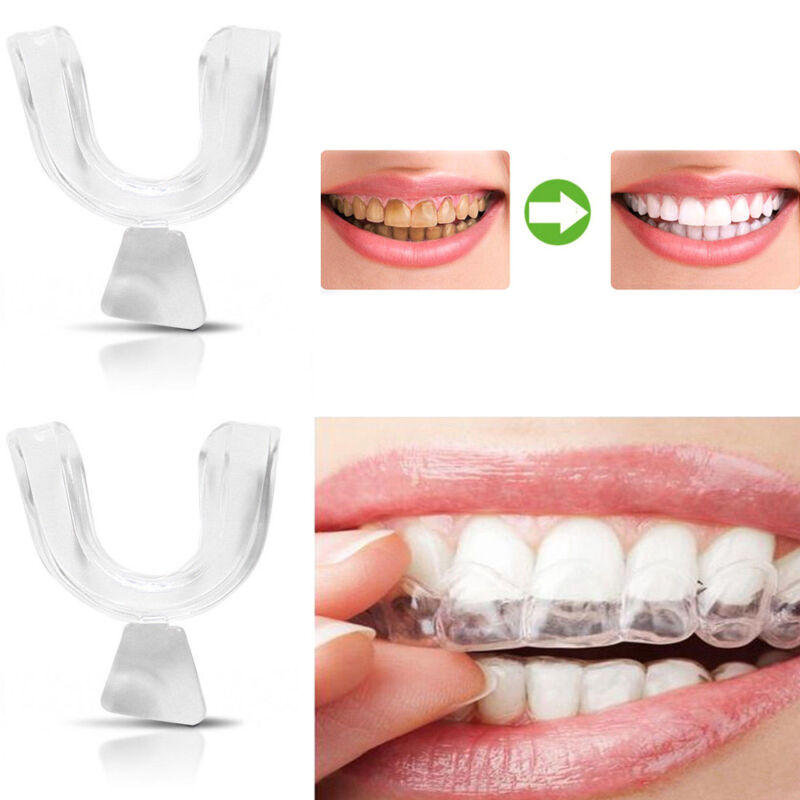 2x Silicone Night Mouth Guard For Teeth Clenching Grinding D