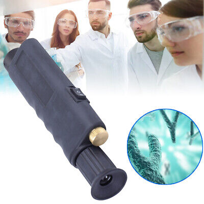 200x Optical Fiber Optic Inspection Scope Black Microscope Built-in Ir Filter
