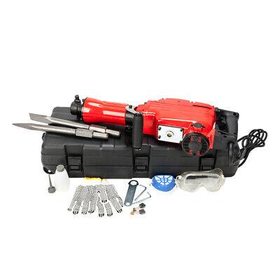 2200w 1-18 Electric Demolition Jack Hammer 1500w Concrete Breaker Chisels Red