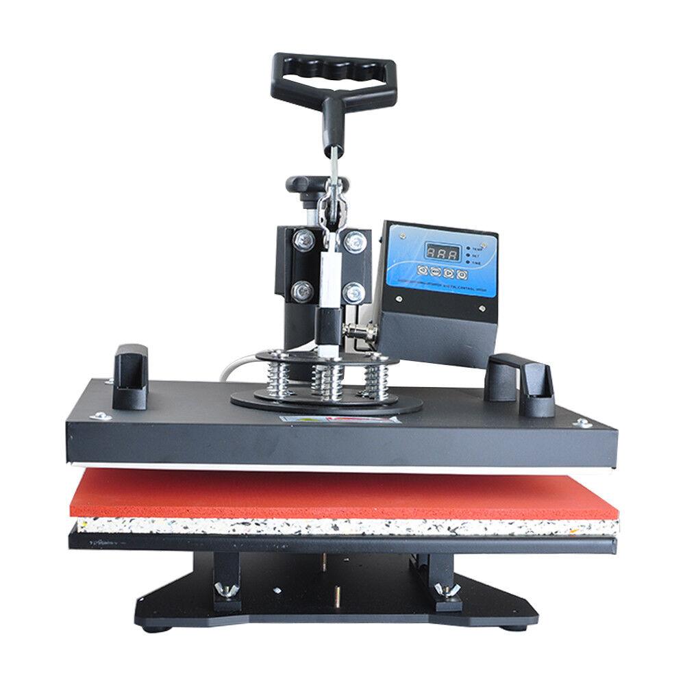 【CA】8 in 1 Heat Press Machine Transfer Sublimation T-Shirt Mug Cup Plate Cap Hat
