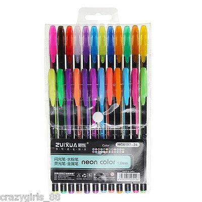 12pcsset Colorful Fluorescent Marker Nite Writer Pen Highlighter Stationery