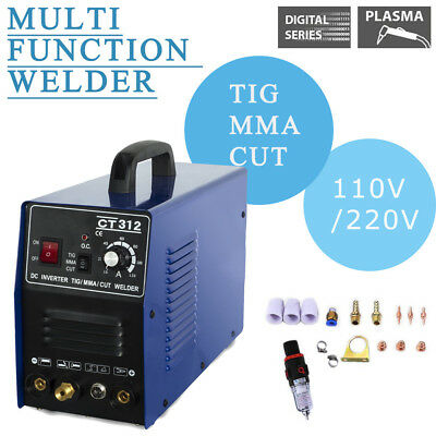 Ct312 Plasma Cutting Welder Machine 3in1 Cuttigmma Dc Dual Voltage 110220v