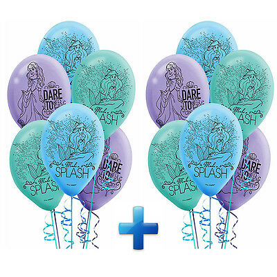 Little Mermaid Disney ARIEL Latex Balloon Birthday Party Supplies Decoration - Ariel Birthday Party