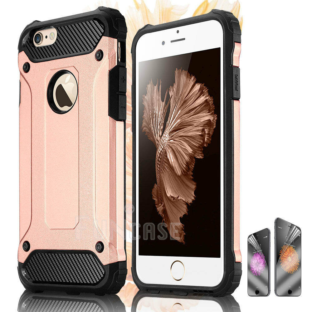 Rugged Shockproof Hybrid Silicone Armor Case Cover for Apple iPhone 6s plus 6 5
