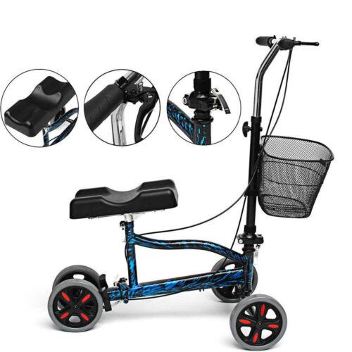 Medical Knee Walker Foldable Steerable Scooter Turning Brake