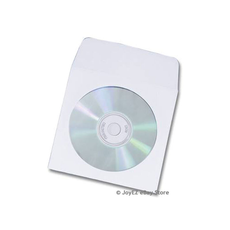5,000 Paper CD DVD R CDR Sleeve Envelope w/ Window Flap Wholesale