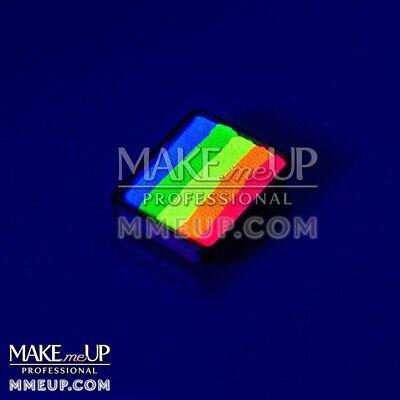NEON mini 6g RAINBOW Fluorescent UV Black light split Face paint color  body