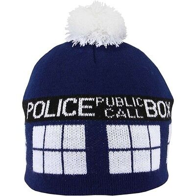 New Elope DR. WHO TARDIS Pom Beanie Blue Costume Halloween Theater gift - Tardis Halloween Costume