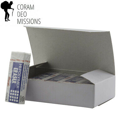 Pentel Hi-polymer Block Eraser Large White Pack Of 10 Zeh10pc10