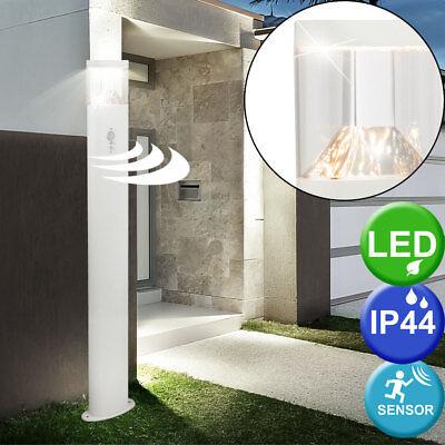 LED Außen Stand Leuchte Edelstahl Bewegungs Melder Hof Einfahrt Edelstahl Lampe