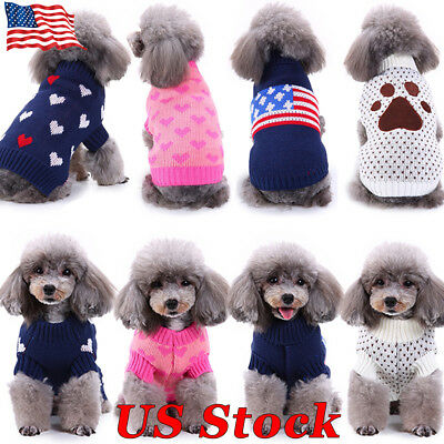 Winter Warm Puppy Clothes Outfit Pet Cat Jacket Coat Soft Sweater For Small Dogs - Cats Outfit