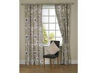 "Beige floral curtains 46x54"""