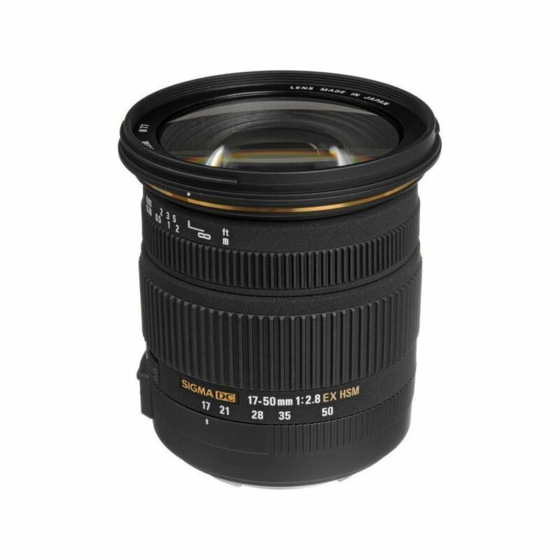 Sigma 17-50mm f/2.8 EX DC HSM Zoom Lens for Select Canon DSLR Cameras Black 583-101