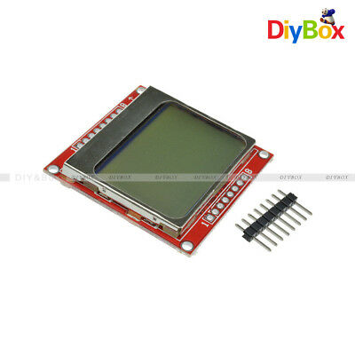 2pcs 8448 84x48 Lcd Module White Backlight Adapter Pcb For Nokia 5110 Arduino