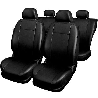 Seat Leon Cupra fr 06/en frontal negro nailon impermeable Asiento de coche fundas protectoras