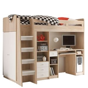 hochbett mit schrank m bel wohnen ebay. Black Bedroom Furniture Sets. Home Design Ideas