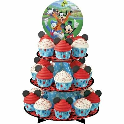 Wilton Disney MICKEY MOUSE ROADSTER Cupcake Treat Stand 3 Tier; Birthday Party