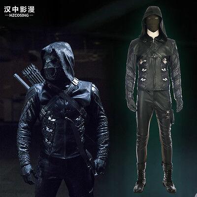 HZYM Latest Green Arrow 5 Prometheus Cosplay Costume Leather Full Suit Any - Arrow Suit