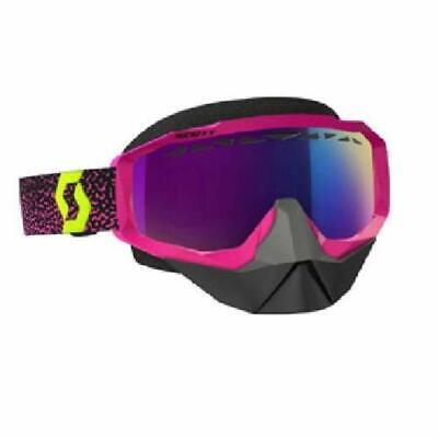 SCOTT SNOW GOGGLE HUSTLE PPL/YLW AMP TEAL CHROME LENS  262582-4984315