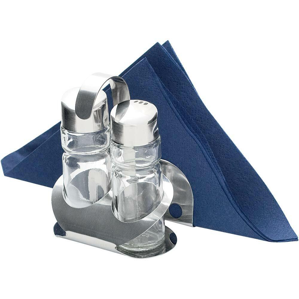 Pfefferstreuer Senfglas Höhe 115 mm Menage 3 teilig Salzstreuer