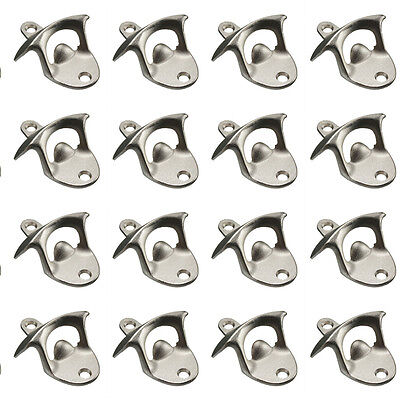 20pcs Stainless Steel Wall Mount Wine Bar Beer Soda Glass Cap Bottle Opener Tool