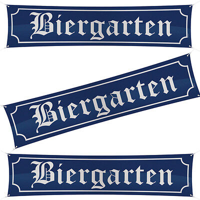 Banner BIERGARTEN Oktoberfest Bayern Party Deko Wiesn 180 x 40 cm Dekoration