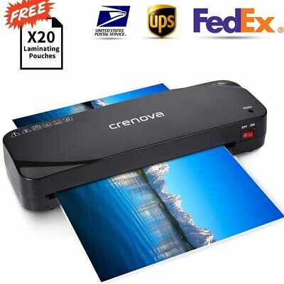 Crenova A4 Thermal Laminator Machine 20 Laminating Pouches For Home Office
