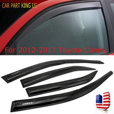 For 2012-2017 Toyota Camry Window Visors Rain Guard Vent Sun Shade Deflector 4PC